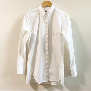 Theory White Collared Dress Shirt